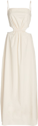 Johanna Ortiz White Sand Tie-Back Cotton-Blend Maxi Dress