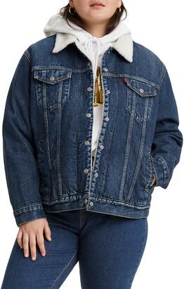 Levi's Ex Boyfriend Fleece Lined Denim Trucker Jacket
