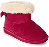 BearPaw Kids Girls) Pom Berry Harper Bow-Accent Boots