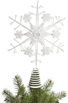 Bloomingdale's White Glitter Snowflake Tree Topper - 100% Exclusive