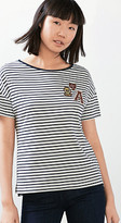 Esprit rugby striped badge t-shirt