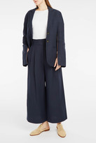 Tibi Zip-Sleeve Hessian Blazer