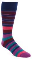 Paul Smith Men's Fern Stripe Socks