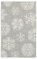 "Threshold Holiday 30""x50"" Outdoor Rug- Gray Snowflake"