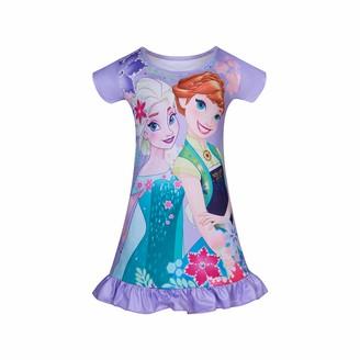 Kissi Girls Nighties Little Princess Nightgown Nightdress Short Sleeve Nightie for Girls 3-8 Years