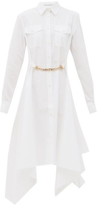 J.W.Anderson Handkerchief-hem Cotton-poplin Shirt Dress - White