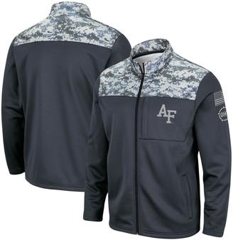 Colosseum Men's Charcoal Air Force Falcons OHT Military Appreciation Fleece Full-Zip Jacket