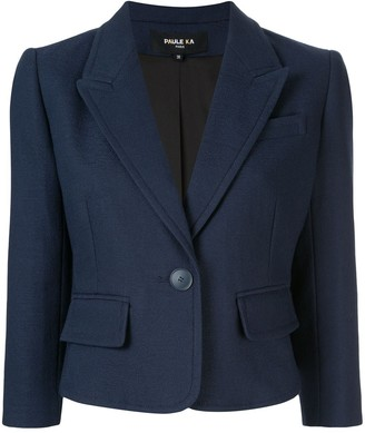 Paule Ka Cropped Fitted Blazer