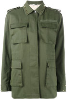 Valentino Rockstud military jacket - women - Cotton/Linen/Flax/Lyocell - 40