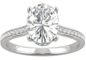 Charles & Colvard Moissanite Oval Engagement Ring (2-1/3 ct. t.w. Dew) in 14k White Gold