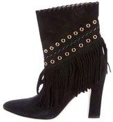 Tamara Mellon Embellished Fringe Ankle Boots