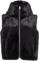 Fusalp Hooded Cropped Fur Vest