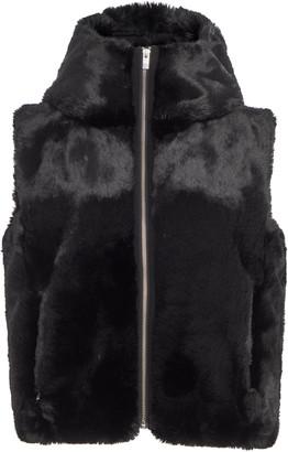 Fusalp Hooded Cropped Fur Vest