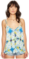 BB Dakota Beckham Desert Oasis Printed Poly CDC Cross Strap Tank Top Women's Sleeveless