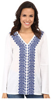 MICHAEL Michael Kors Woven Front Embroidered Tunic