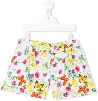 Miss Blumarine Floral And Butterfly Shorts