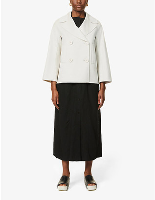 S Max Mara Connie double-breasted wool coat