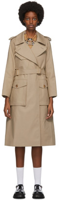 Burberry Beige Gabardine Tielocken Trench Coat