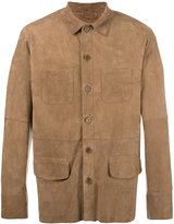 Desa 1972 - shirt jacket - men - Cotton/Suede - 46