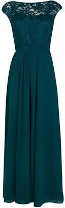 Wallis **Jolie Moi Teal Lace Maxi Dress