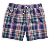 Ralph Lauren Toddler's, Little Boy's, & Boy's Traveler Plaid Swim Trunks