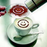 Carl Mertens -tutto caffè cappuccino cream patterns by carl mertens