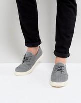 New Look Canvas Plimsolls In Dark Grey