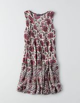American Eagle AEO Tiered Lace-Up Dress
