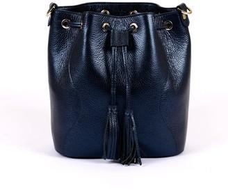 Hiva Atelier Rivus Leather Bag Metallic Navy