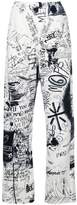 MM6 MAISON MARGIELA grafitti print track pants