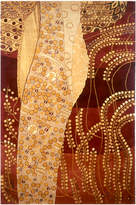 Momeni Rugs Burgundy & Ivory Abstract Wool Rug