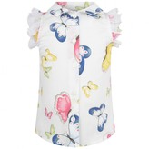 MonnaLisa MonnalisaBaby Girls White Sleeveless Butterfly Blouse
