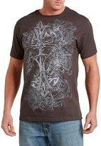 555 Turnpike Iron Works Cross Heraldic Big & Tall Short Sleeve Graphic T-Shirt (6XTall, )