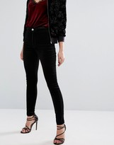Miss Selfridge Velvet High Waist Jean