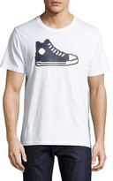Mostly Heard Rarely Seen 8-Bit Sneaker Graphic T-Shirt, White/Navy