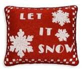 Sudha Pennathur Beaded Velvet Let It Snow Decorative Pillow