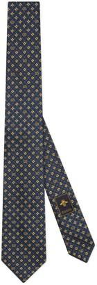 Gucci GG and shamrocks silk tie