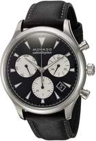 Movado Men's Swiss Quartz Stainless Steel and Leather Casual Watch, Color: (Model: 3650005)