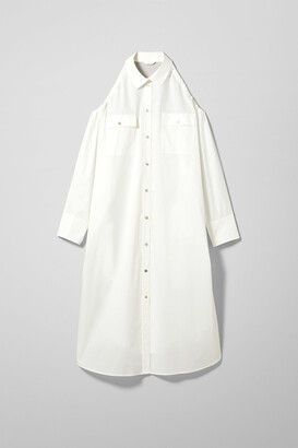 Weekday Ashanti Shirt Dress - White