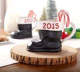 Pottery Barn Santa Boot 2015 Mug