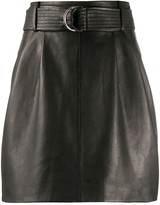 P.A.R.O.S.H. leather straight skirt