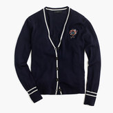 J.Crew V-neck cardigan sweater with floral patch