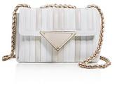 Sara Battaglia Elizabeth Two-Tone Small Leather Shoulder Bag