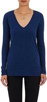Barneys New York WOMEN'S V-NECK LONG-SLEEVE T-SHIRT-BLUE SIZE XS