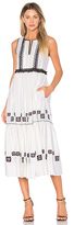 Suno Cotton Leaf Maxi Dress in White. - size 4 (also in )