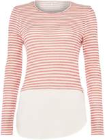 Salsa Long sleeve jersey top stripe detail in white