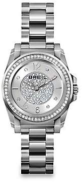 Breil Milano Women's Manta Crystal & Stainless Steel Bracelet Watch