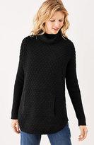 J. Jill Textured Turtleneck Poncho Sweater