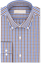 MICHAEL Michael Kors Men's Classic-Fit Brown Check Dress Shirt