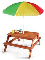 Plum Children's Garden Picnic Table with Parasol